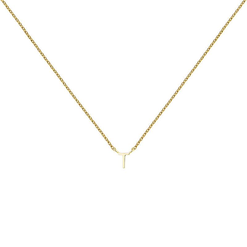 Collier initiale T or, J04382-02-T, hi-res