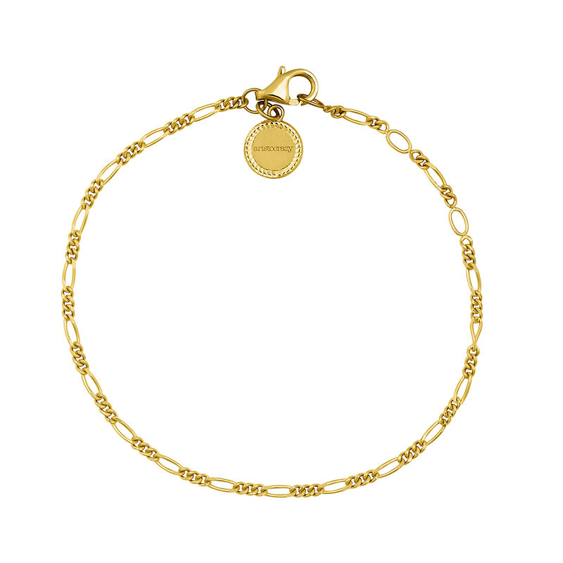Gold plated link bracelet, J04617-02, hi-res