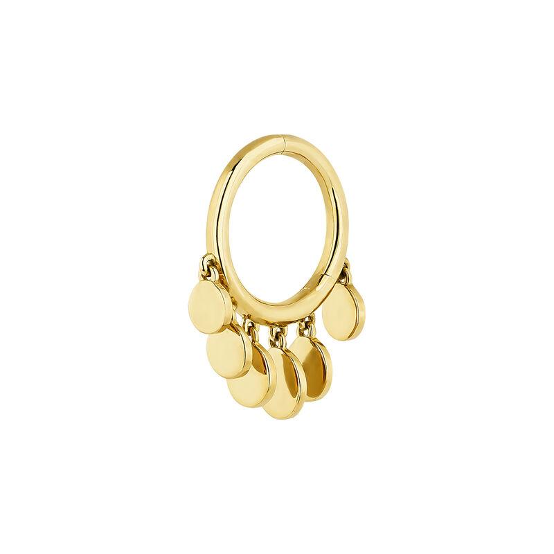 Big gold spheres hoop piercing, J04379-02-H, hi-res