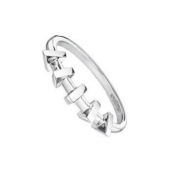 Silver triangles ring, J03967-01, hi-res