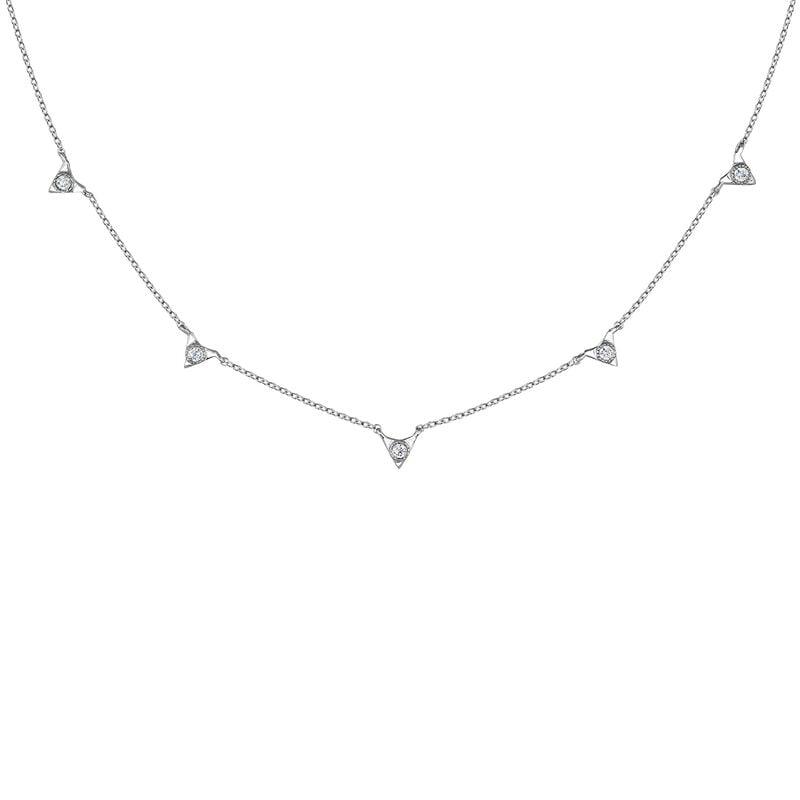 Colgante triángulos diamante oro blanco 0,0675 ct, J03922-01, hi-res