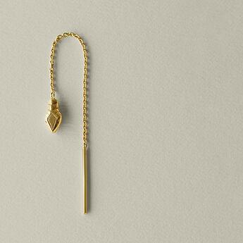 Pendiente cadena serpiente plata recubierta oro, J04854-02-H, hi-res