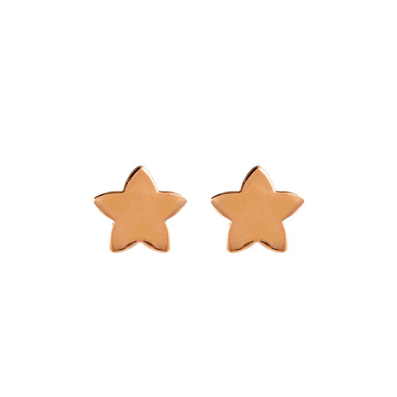 Pendientes estrella plata recubierta ororosa, J01086-03-NEW, hi-res