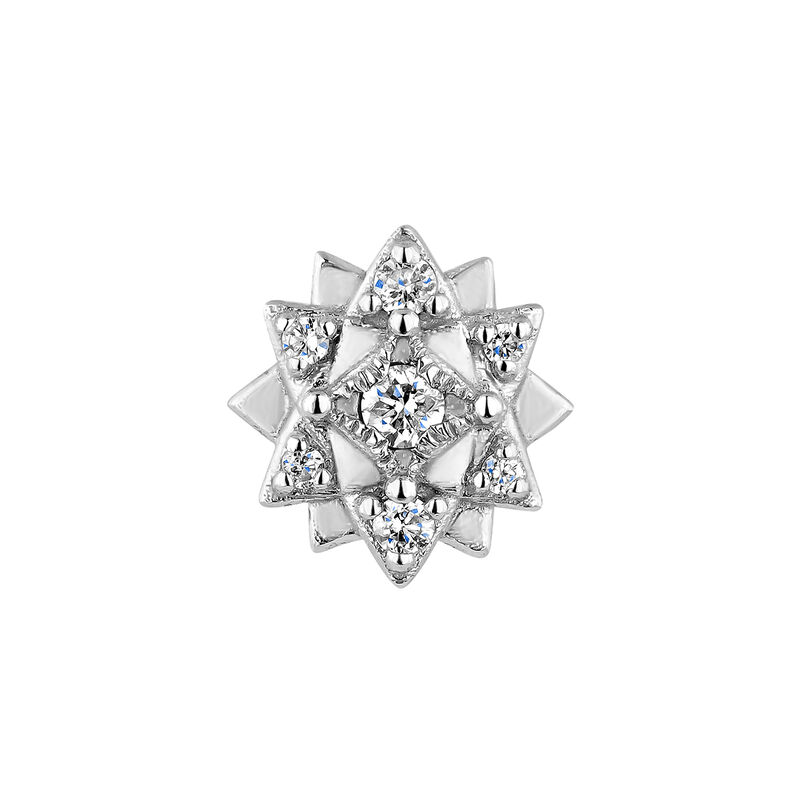 Piercing petite fleur or blanc diamant 0,012 ct., J04362-01-H, hi-res