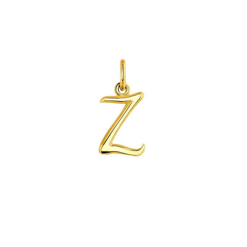 gold plated initial Z necklace, J03932-02-Z, hi-res