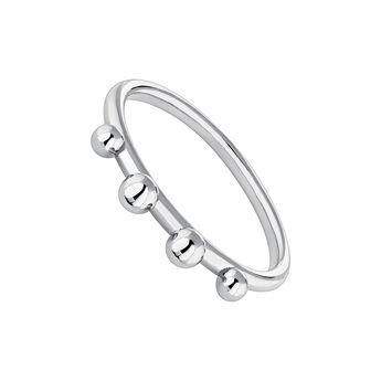 Silver piercing balls ring, J04332-01, hi-res
