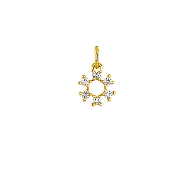 Colgante círculo de la suerte oro, J03822-02-WT, hi-res