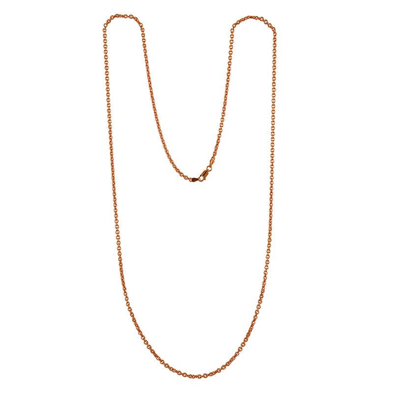 Cadena roló ovalada larga oro rosa, J00563-03-80, hi-res