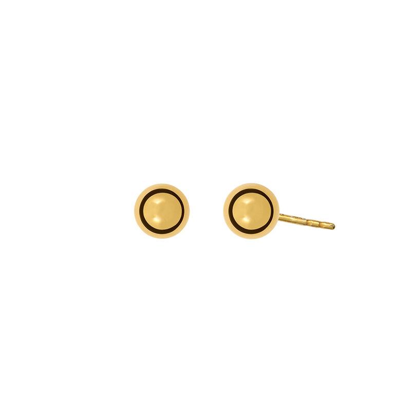 Pendientes esféricos plata recubierta oro, J01295-02, hi-res