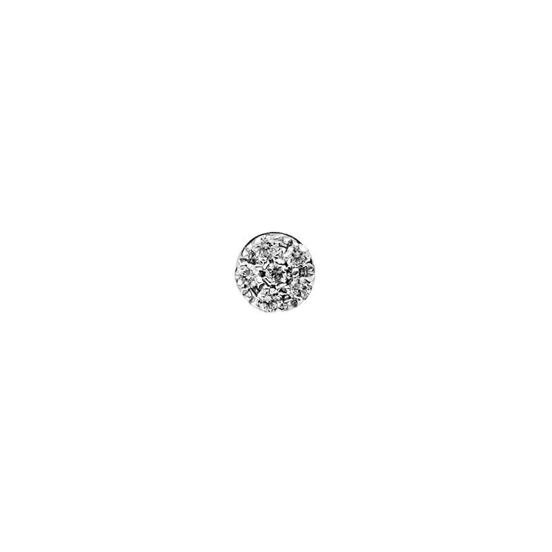 Pendiente roseta diamantes 0,03 ct oro blanco, J01355-01-H, hi-res