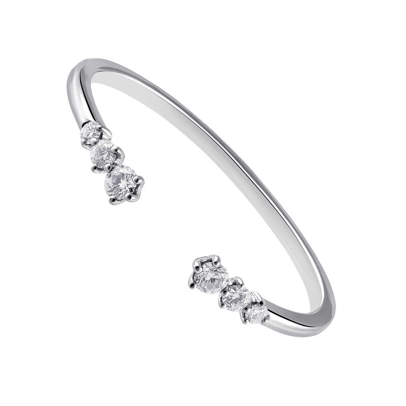 White gold You and I diamond ring 0.1 ct, J03345-01, hi-res