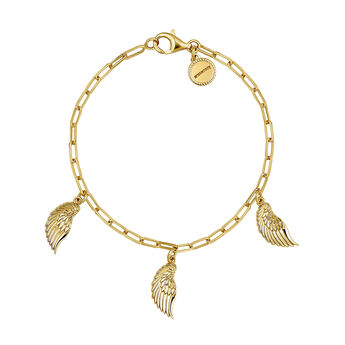 Gold wings charm bracelet, J04303-02, hi-res