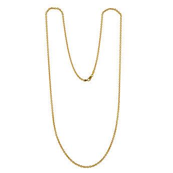 Cadena roló ovalada larga oro, J00563-02-80, hi-res