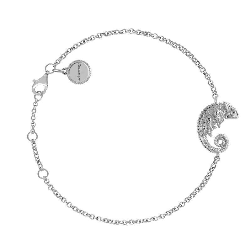 Silver chameleon design bracelet, J03870-01, hi-res