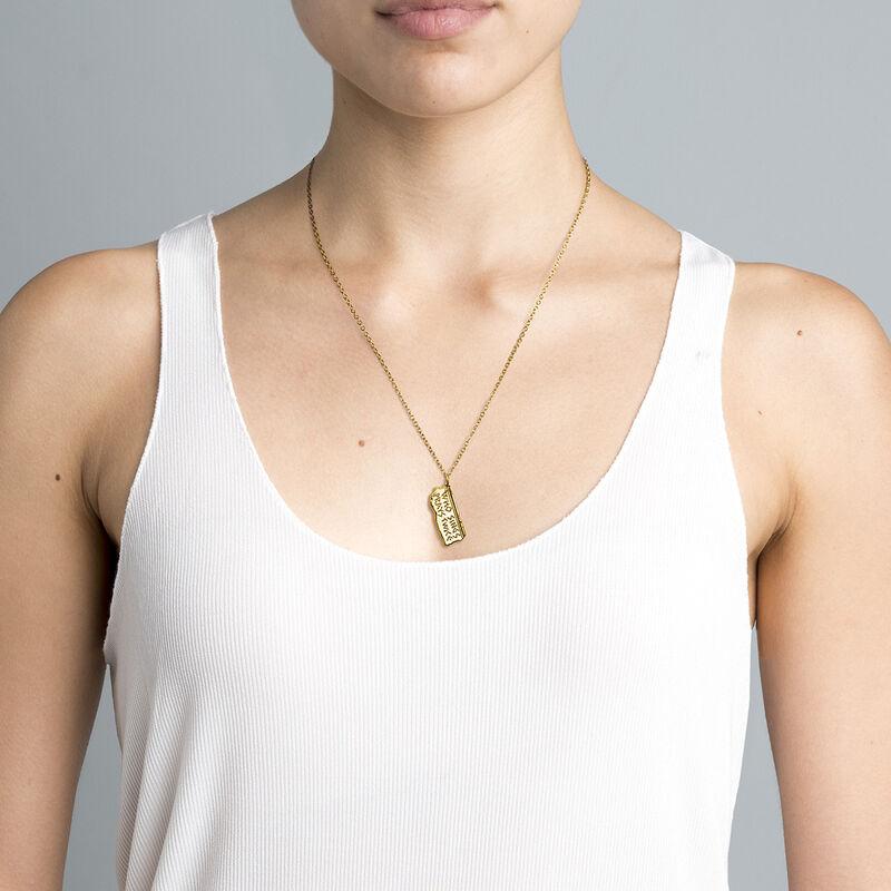 Collar jeroglífico plata recubierta oro, J04717-02, hi-res