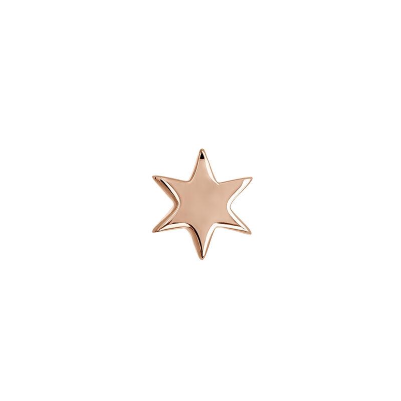 Pendiente piercing estrella oro rosa, J03834-03-H, hi-res