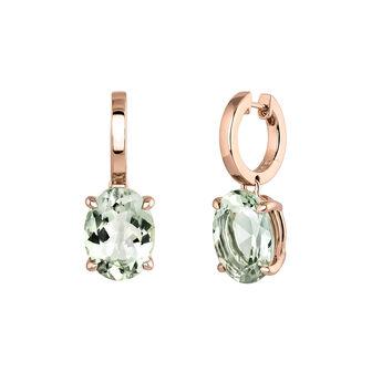 Boucles d'oreilles créoles grandes quartz argent plaqué or rose, J03809-03-GQ, hi-res