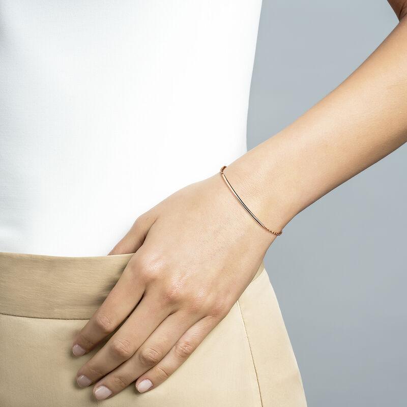 Rose gold tube bracelet, J01706-03, hi-res