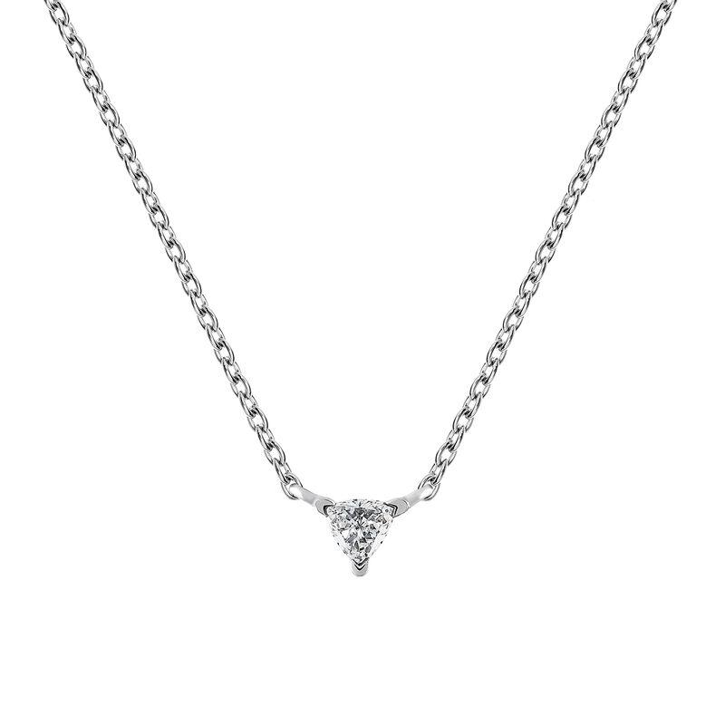 Triangle necklace diamonds 0.06 ct, J03364-01, hi-res