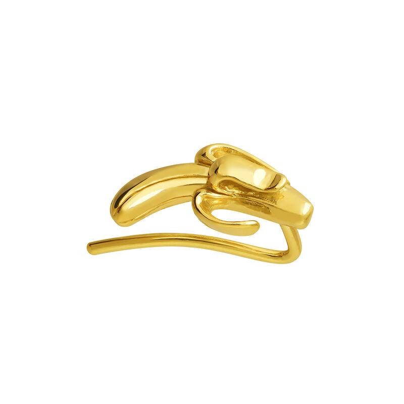 Pendiente plátano oro, J03725-02, hi-res