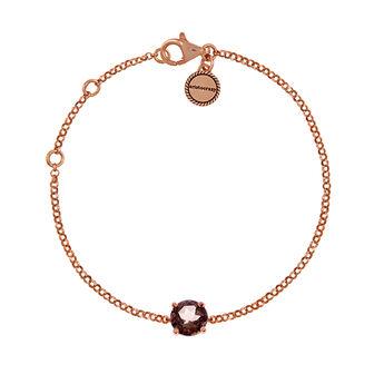 Pulsera oro rosa cuarzo fumé, J01776-03-SQ, hi-res