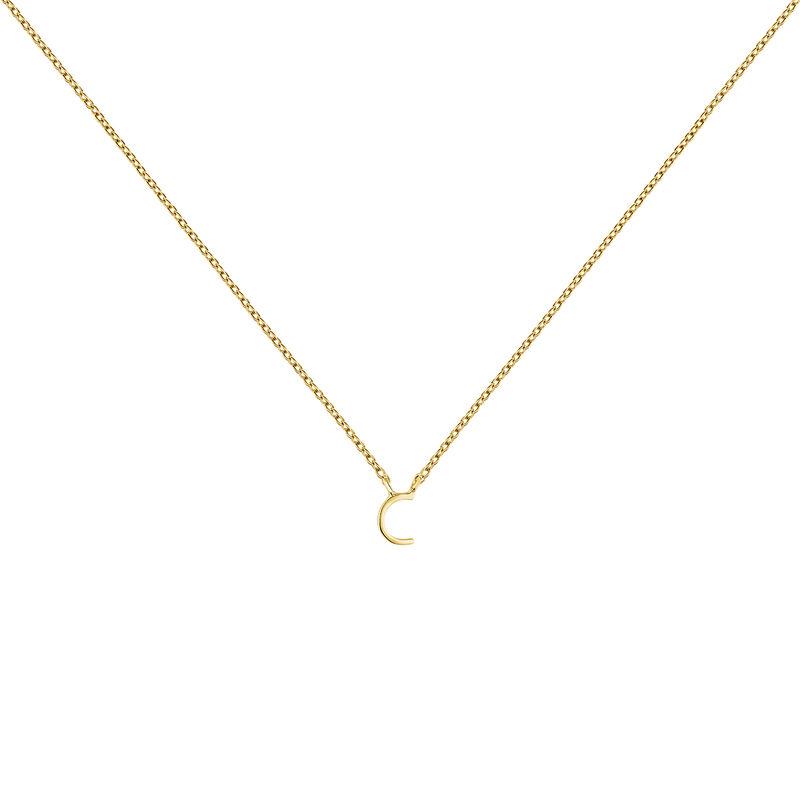 Collar inicial C oro, J04382-02-C, hi-res