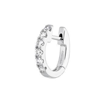 White gold border diamond hoop earring 0.155 ct, J04095-01-16-H, hi-res