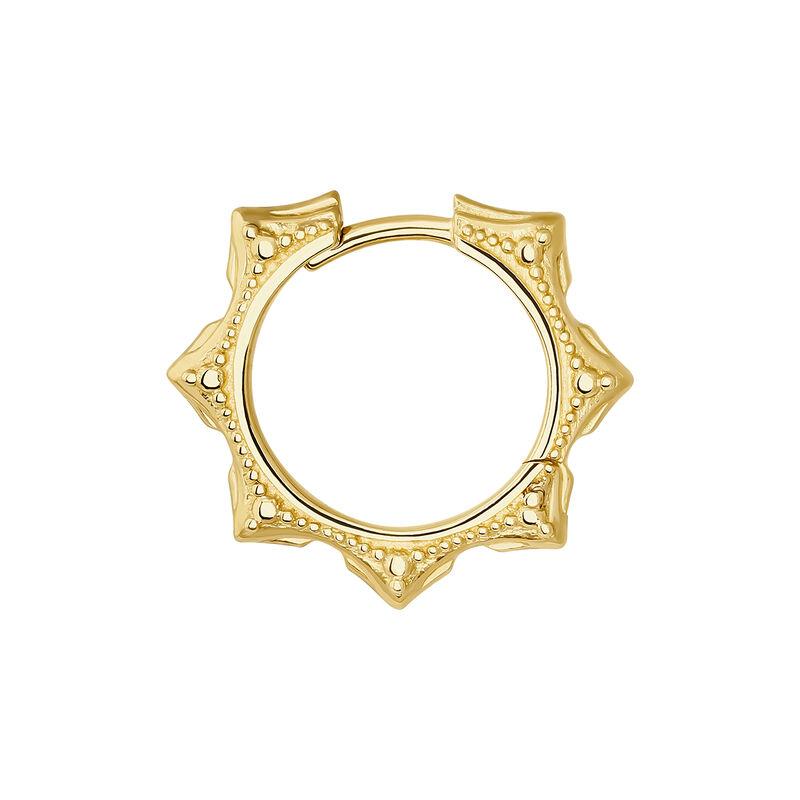 Pendiente aro piercing boho oro 9 kt, J04528-02-H, hi-res