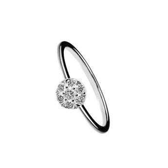 Anillo roseta diamantes 0,3 ct oro blanco, J00922-01-30, hi-res