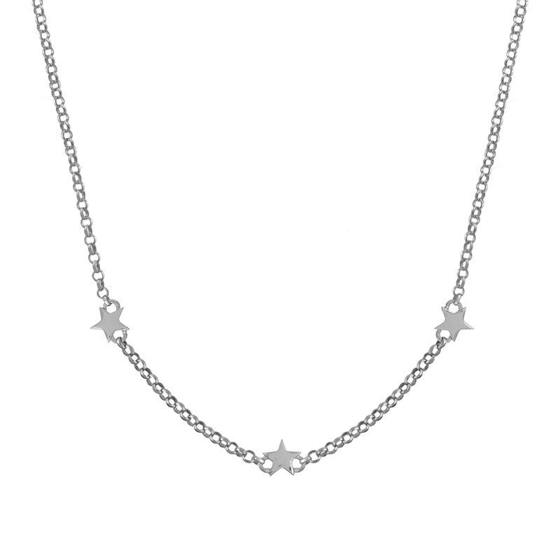 Colgante estrellas mini plata, J01900-01, hi-res