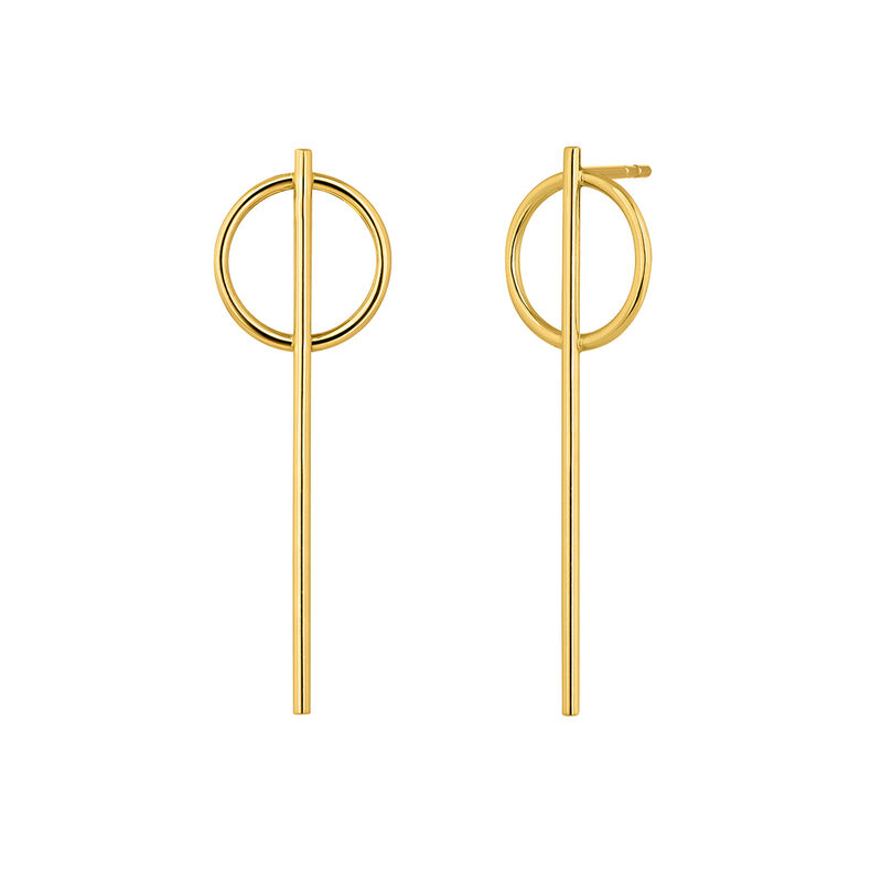 Hoop earrings large bar yellow gold, J04217-02, hi-res