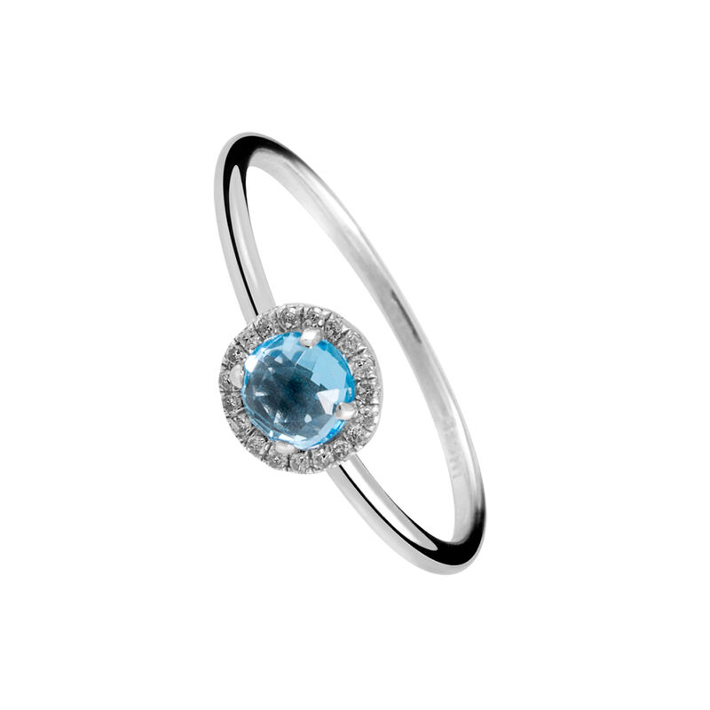 Silver ring with blue topaz, J01484-01-BT, hi-res