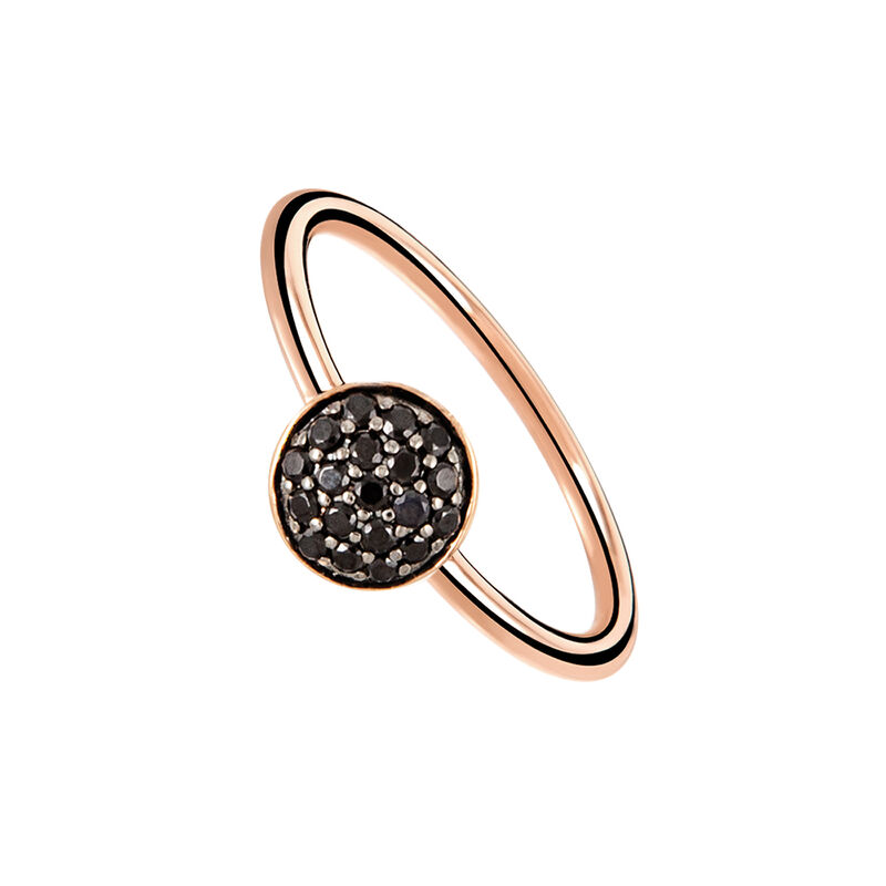 Rose gold plated circle ring with spinels, J01968-03-BSN, hi-res