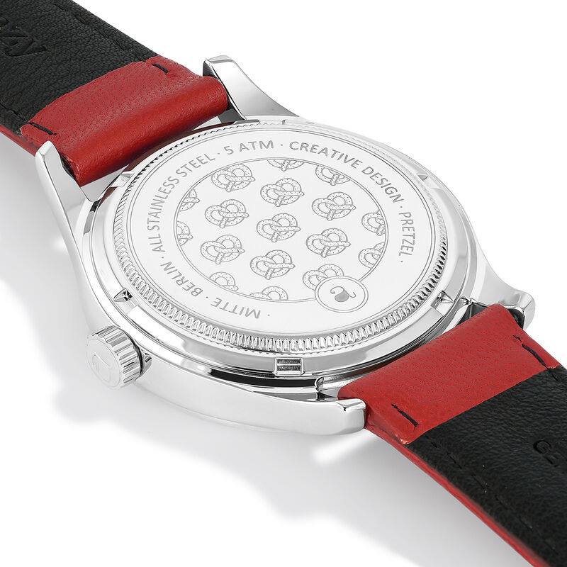 Red strap Mitte watch, W41A-STSTSV-LERE, hi-res
