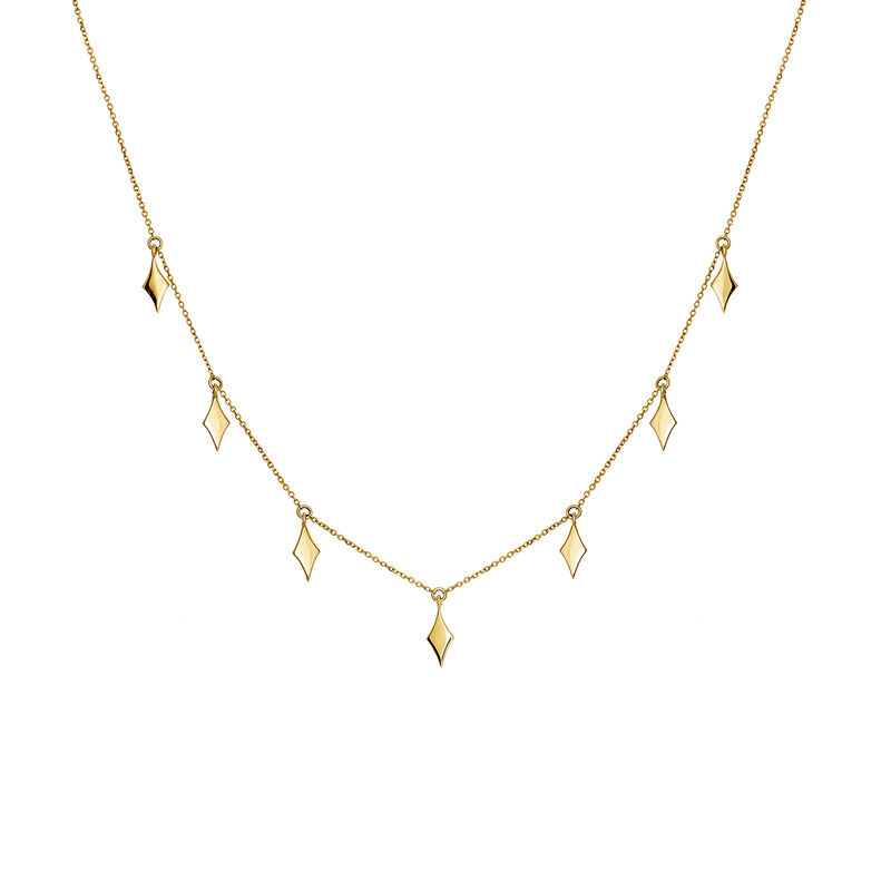 Rose gold rhombuses necklace, J03868-02, hi-res