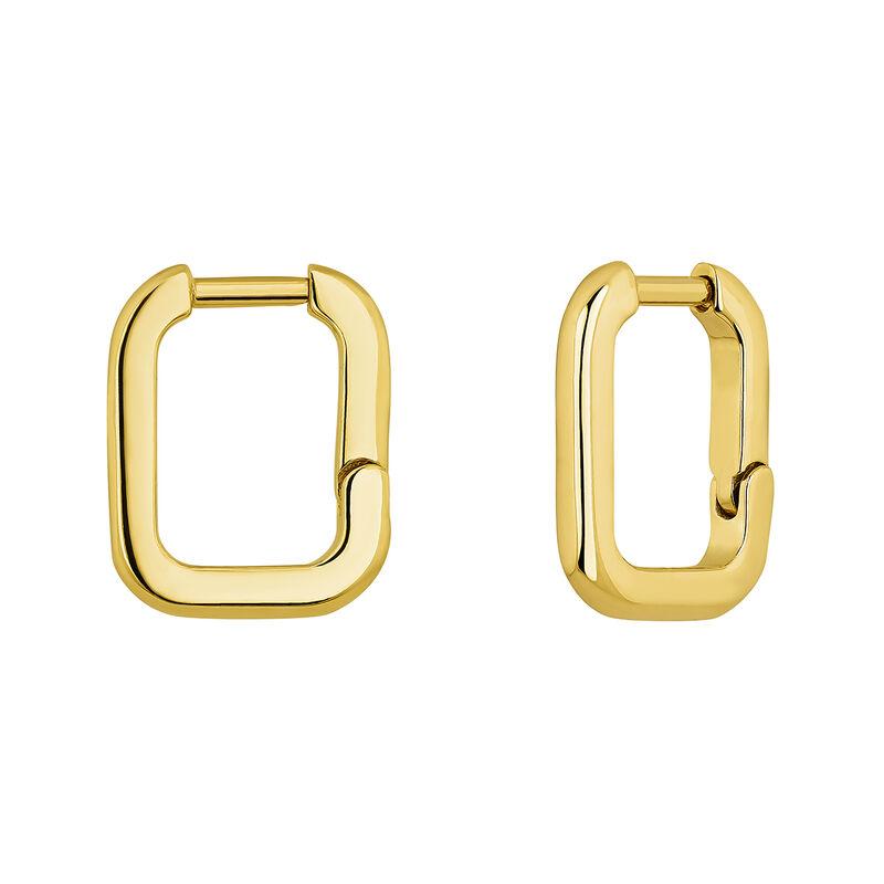 Pendientes cuadrados plata recubierta oro, J04649-02, hi-res