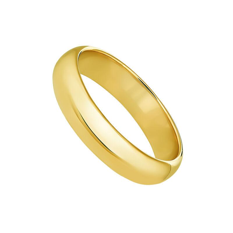 Anillo banda mediano oroplata recubierta oro, J04101-02, hi-res