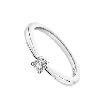 Bague solitaire or blanc 0,15 carat, J03398-01-15-GVS, hi-res