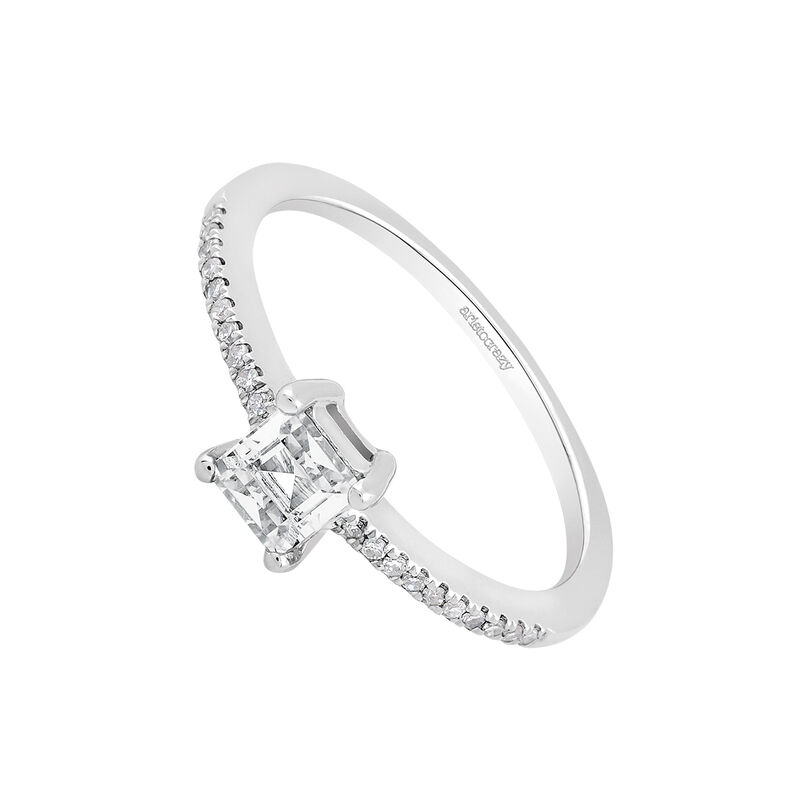Anillo topacio diamantes plata recubierta oro, J03111-01-WT, hi-res