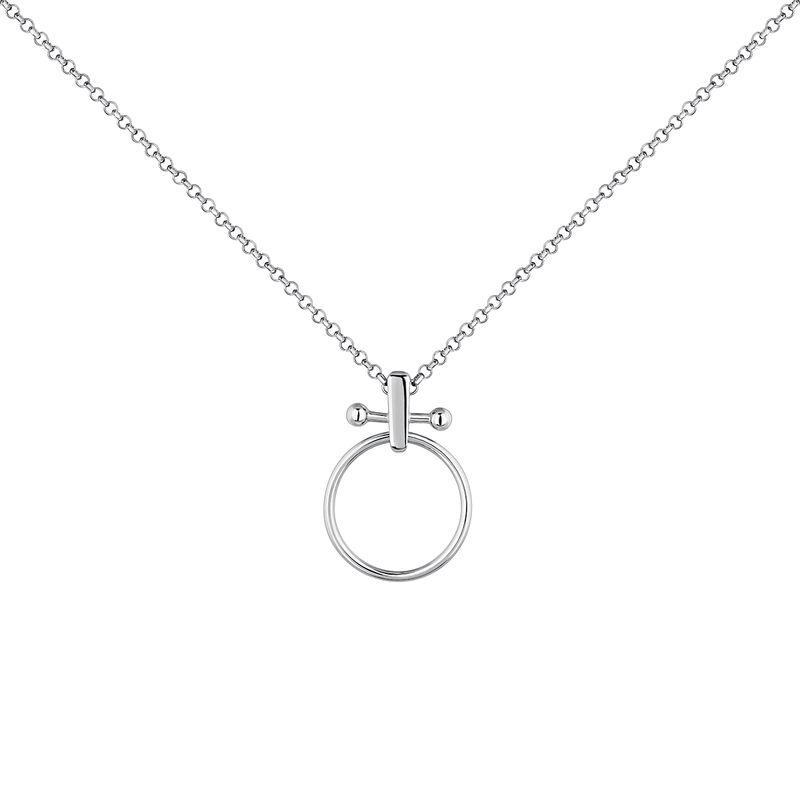 Collar aro barra piercing grande plata, J04330-01, hi-res