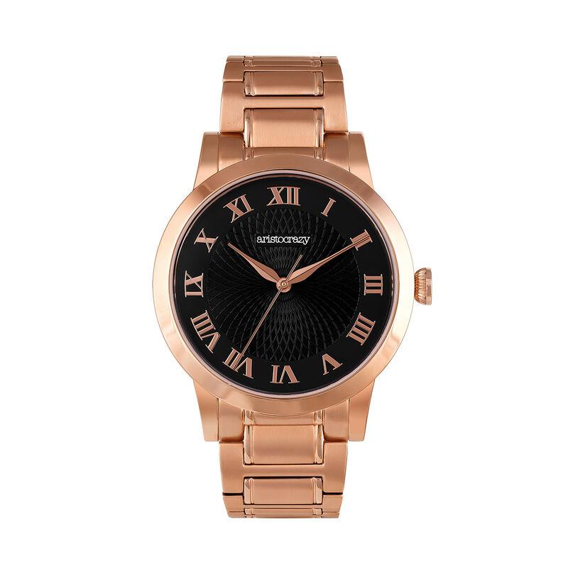 Reloj Brera armis oro rosa esfera negra