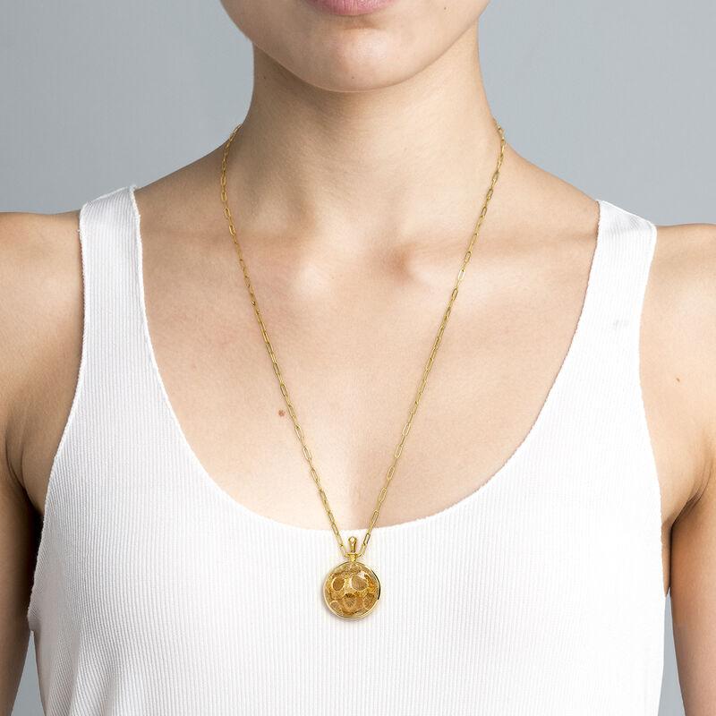 Collar grande coral plata recubierta oro, J04126-02-FOSC-WT, hi-res