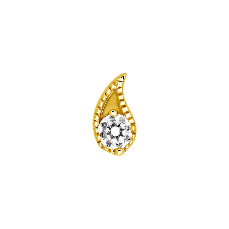 Boucle d'oreille diamant or 0,07 ct, J03385-02-H, hi-res