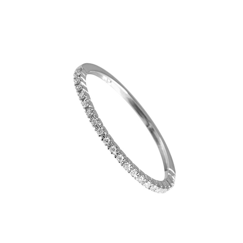 Anillo fino diamantes oro blanco 0,1 ct, J00325-01-05, hi-res