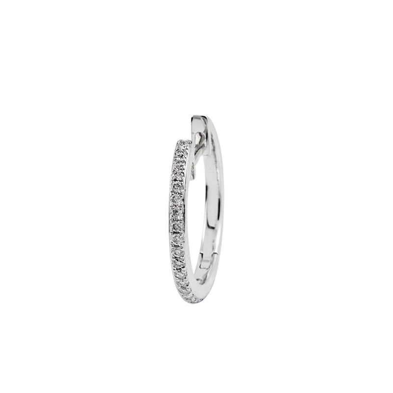 Large gold hoop earring diamonds 0.09 ct, J00687-01-17-H, hi-res