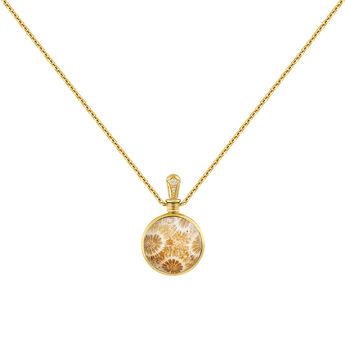 Collar pequeño coral oro, J04123-02-FOSC-WT, hi-res