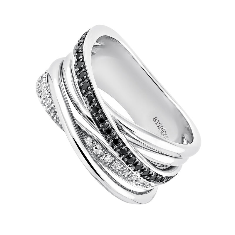 Medium silver multi-band ring, J03661-01-WT-BSN, hi-res