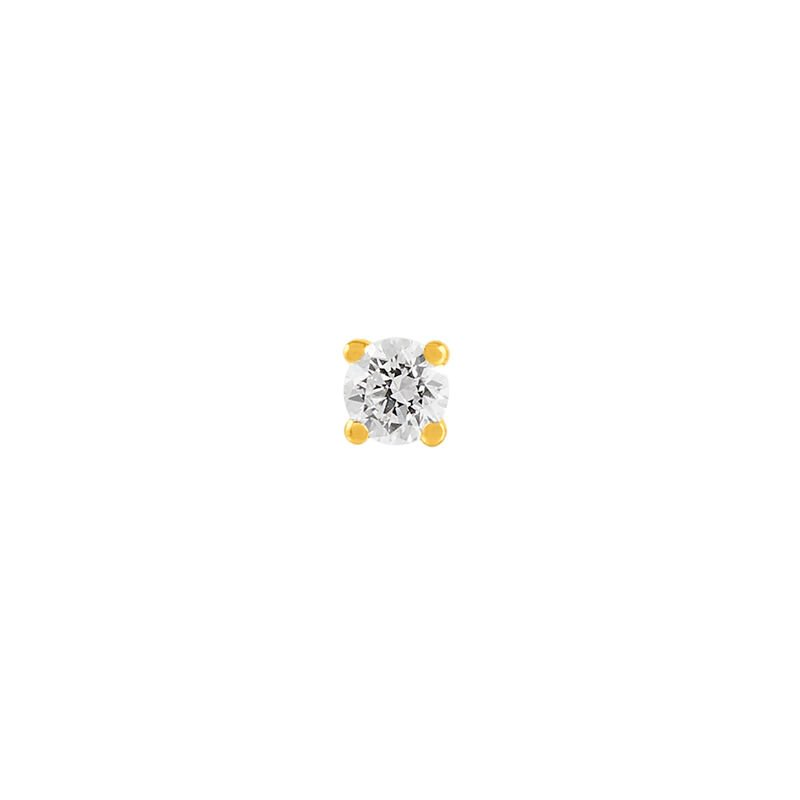 Gold solitaire earring 0.05 ct. diamond, J00887-02-05-H, hi-res