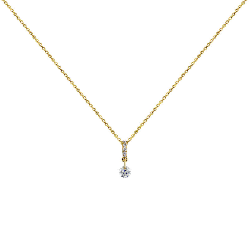 Collier diamants or, J04431-02, hi-res