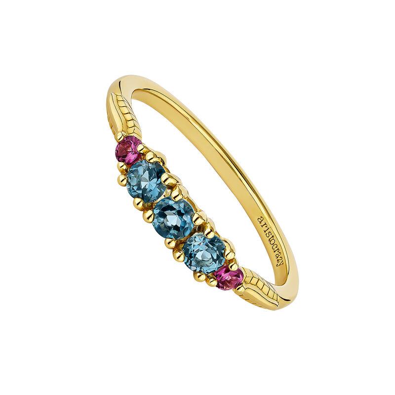 Gold plated rhodolite ring, J04674-02-SB-RO, hi-res